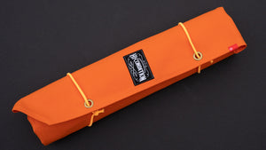 HI-CONDITION HANPU CANVAS 6 POCKETS KNIFE ROLL ORANGE (Cotton Carry Bag included)