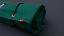 Load image into Gallery viewer, HI-CONDITION HANPU CANVAS 6 POCKETS KNIFE ROLL GREEN (Cotton Carry Bag included)