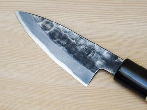 HINODE SHIROGAMI 2 KUROUCHI HAMMERED PARING KNIFE 90MM
