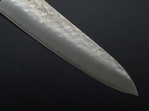 KICHIJI HAMMERED AOGAMI STAINLESS CLAD GYUTO 200MM