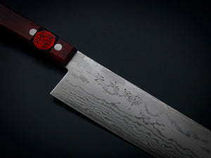SHIGEKI TANAKA VG-10 17-LAYER DAMASCUS NAKIRI 165MM WINE RED HANDLE