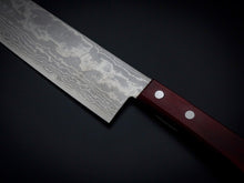 Load image into Gallery viewer, SHIGEKI TANAKA VG-10 17-LAYER DAMASCUS NAKIRI 165MM WINE RED HANDLE