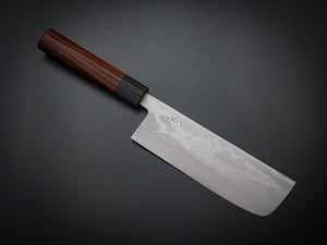 HITOHIRA AOGAMI 2 DAMASCUS NAKIRI ROSEWOOD HANDLE 165MM