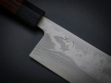 Load image into Gallery viewer, HITOHIRA AOGAMI 2 DAMASCUS NAKIRI ROSEWOOD HANDLE 165MM