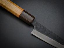 Load image into Gallery viewer, HITOHIRA AOGAMI SUPER KUROUCHI NASHIJI PETTY 135MM CHERRY HANDLE