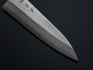 YOSHIMI VG10 NASHIJI DAMASCUS PETTY 120MM ROSE WOOD HANDLE