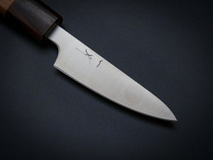 HITOHIRA GINSAN HIRAGANA PARING KNIFE 80MM CHERRYWOOD HANDLE