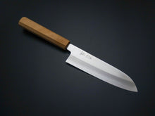 Load image into Gallery viewer, OUL GINSAN SANTOKU 170MM CHERRY HANDLE FORGED BY SHOGO YAMATSUKA