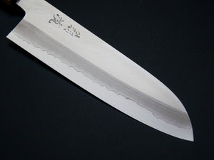 OUL GINSAN SANTOKU 170MM CHERRY HANDLE FORGED BY SHOGO YAMATSUKA