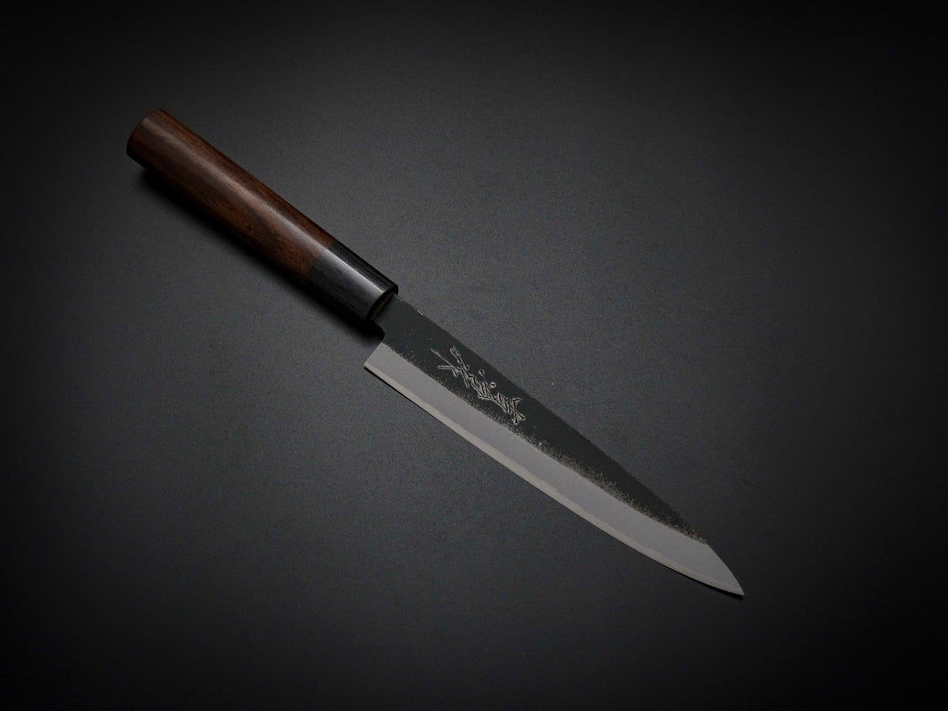 KICHIJI AOGAMI2 KUROUCHI PETTY 150MM ROSE WOOD HANDLE WITH SAYA