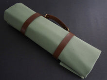 Load image into Gallery viewer, KATABA HANDMADE HEAVYWEIGHT CANVAS KNIFE ROLL WITH LEATHER FITTINGS