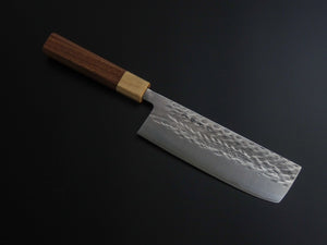HITOHIRA TD SLD HAMMERED NAKIRI 165MM WALNUT HANDLE
