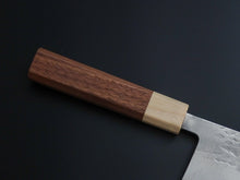 Load image into Gallery viewer, HITOHIRA TD SLD HAMMERED NAKIRI 165MM WALNUT HANDLE