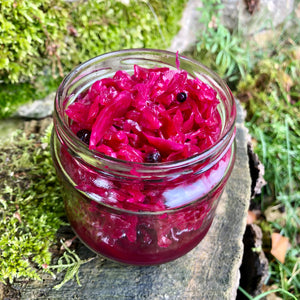 Red Cabbage & Beetroot Sauerkraut