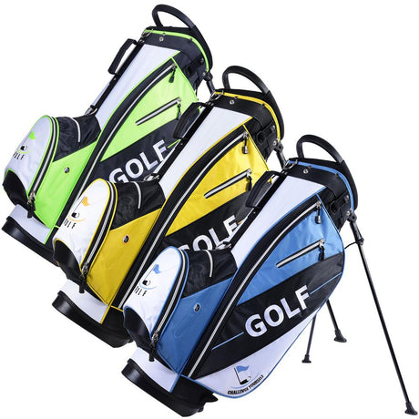 TheDIYOutlet Golf Metal Stand Carry Bag 14-Way Yellow/Blue/Green