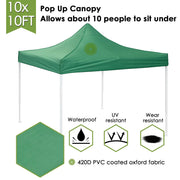 10x10ft Folding Easy Pop Up Canopy Tent Instant Shelter Color Opt