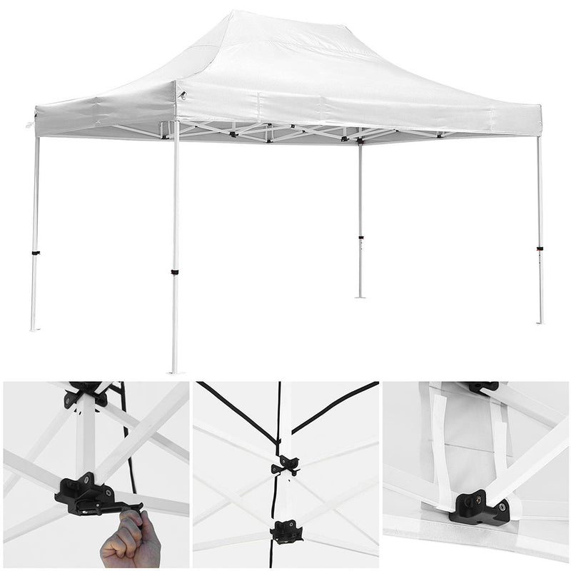 InstaHibit Easy Pop-up Tent Comml. Canopy 10x15ft CPAI-84