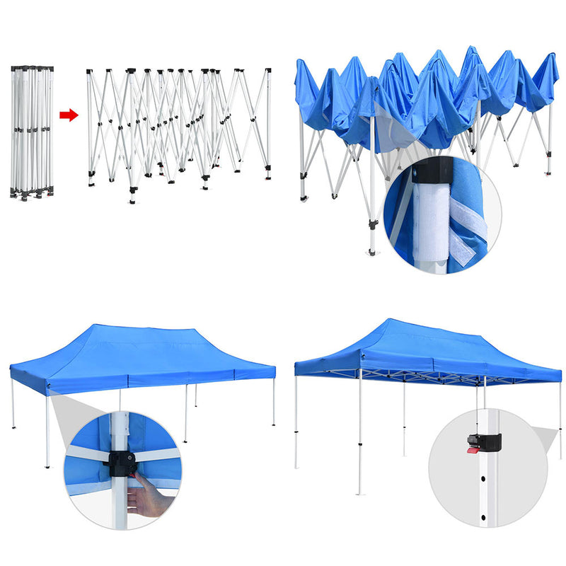 InstaHibit Easy Pop-up Tent Comml. Canopy 10x20ft CPAI-84 (Preorder)