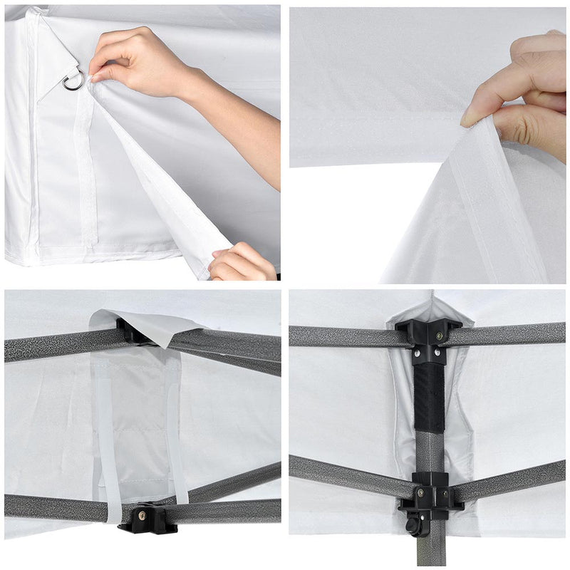 "10x10ft(9'7""x9'7"") Easy Pop Up Tent Canopy WeightBags Air Vent"