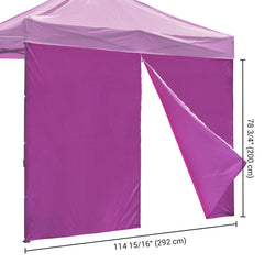 TheDIYOutlet 1pc Sidewall for 10x10ft Easy Pop Up Canopy, w/ Zip