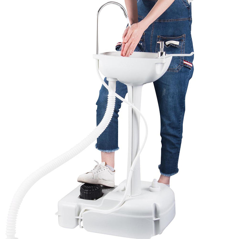 Portable Sink Hand Wash Station Foot Pump