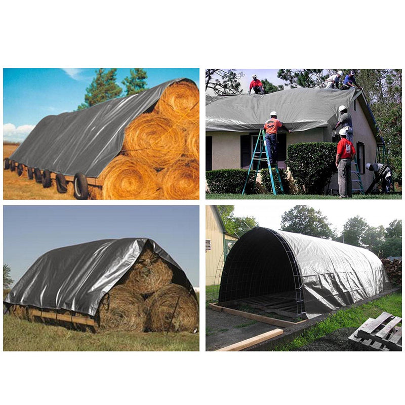 10x15 ft Heavy-Duty Tarp Shelter Cover Tarpaulin, Silver (Preorder)