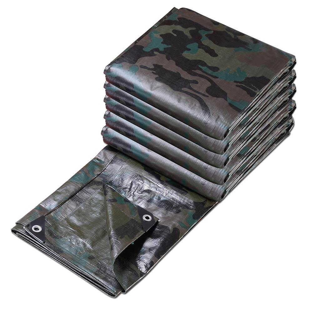 TheDIYOutlet Camo Size Opt Reinforced Heavy-Duty Tarp Shelter Cover Tarpaulin