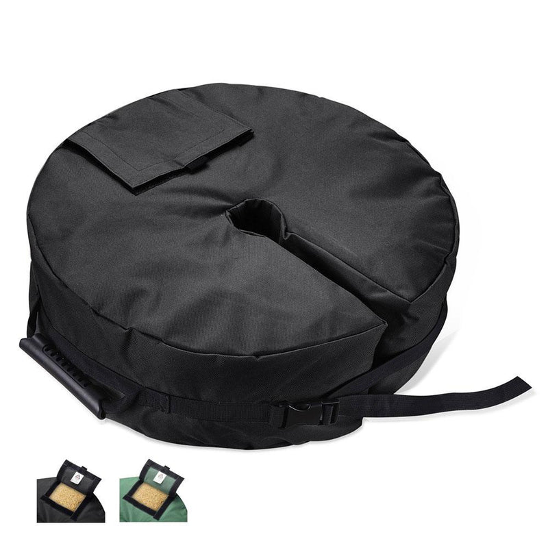 "TheDIYOutlet 18in Umbrella Weight Sandbag for 3"" Pole Black/Green"