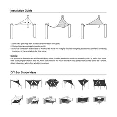 TheDIYOutlet Triangle Outdoor Sun Shade And Canopy 16.5' Color Options