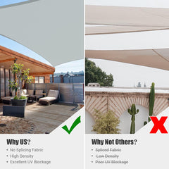 23' x 20' Rectangle Shade Sail for Patios Pool