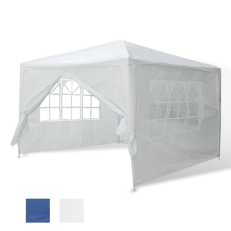 TheDIYOutlet 10 x 10 ft Outdoor Wedding Party Tent w/ 4 Sidewalls Color Optional