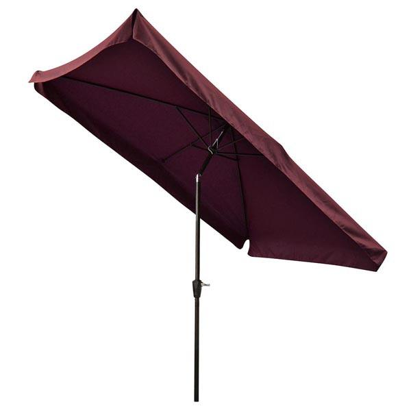 10x6.5 Foot Rectangular Patio Outdoor Umbrella Tilt Color Options