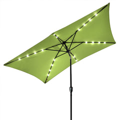 TheDIYOutlet 10 x 6.5 Foot Patio LED Solar Umbrella Color Options