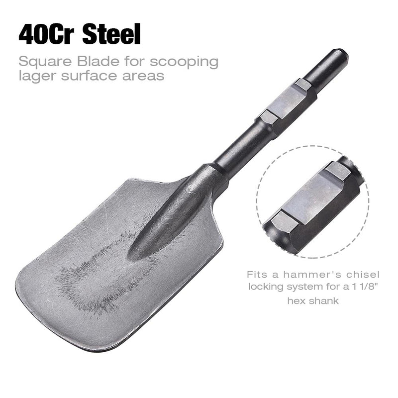Clay Spade Steel Shovel Bit 1-1/8 in. Hex Shank