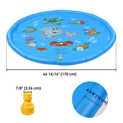 Inflatable Splash Pad Sprinkler Wading Pool for Kids 67