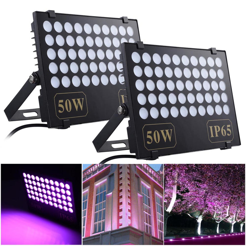 50W LED Flood Light Fixtures Purple Party Effect Lights