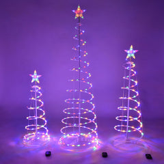 Spiral Christmas Tree Set Battery Powered-6ft 4ft 3ft included