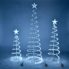 Spiral Christmas Tree Set Solar Powered-6ft 4ft 3ft included