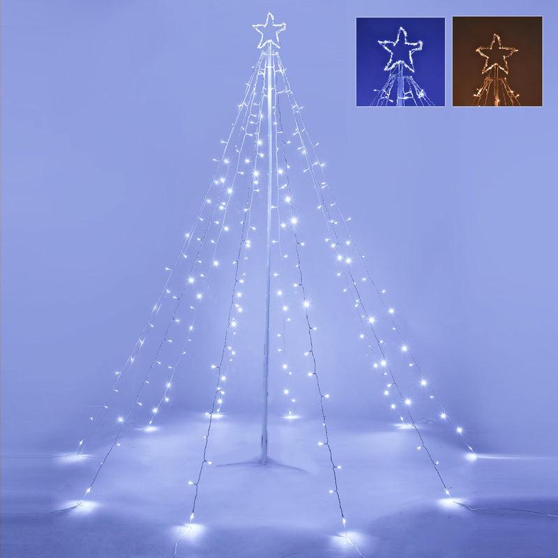 Christmas Tree String Light with Pole & Star