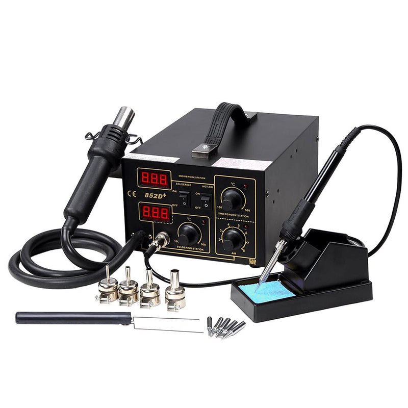 852D+ 2in1 Hot Air & Iron SMD Rework Soldering Station