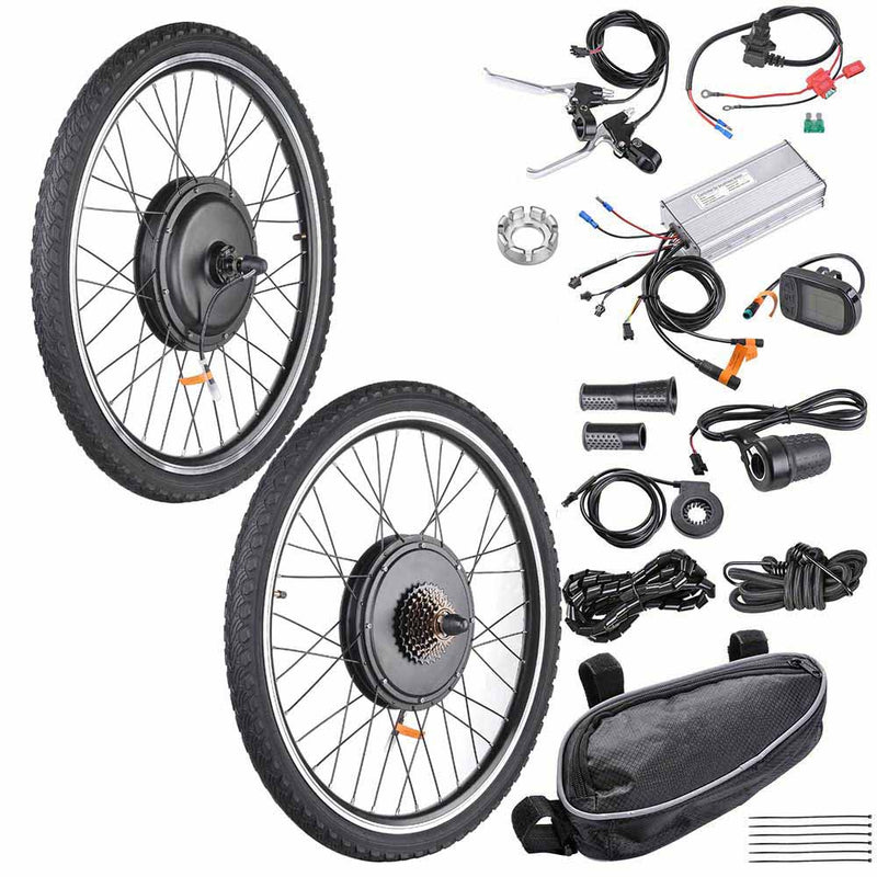 TheDIYOutlet 26 Inch 48v 1000w Electric Bike Conversion Motor Kit