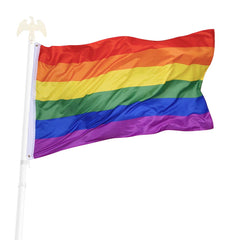 TheDIYOutlet 3x5 ft Poly Rainbow Flag