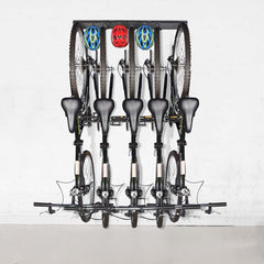 Garage Bike Rack Wall Mount 8-Hooks 3-Rail