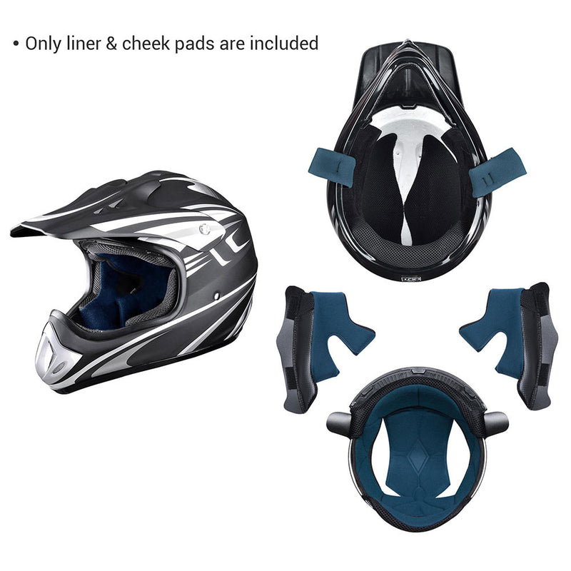 Dirt Bike Helmet Liner and Cheek Pads for AHR H-VEN20