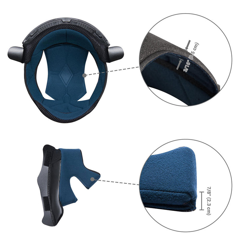 Dirt Bike Helmet Liner and Cheek Pads for AHR H-VEN30