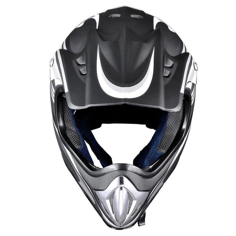 AHR Dirt Bike Helmet DOT Full Face MX Motocross Helmet Black