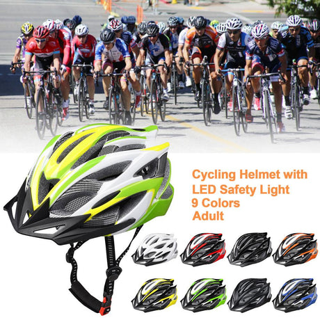 CPSC Bike Helmet w/ LED Taillight Road Bike Helmets 56-61cm
