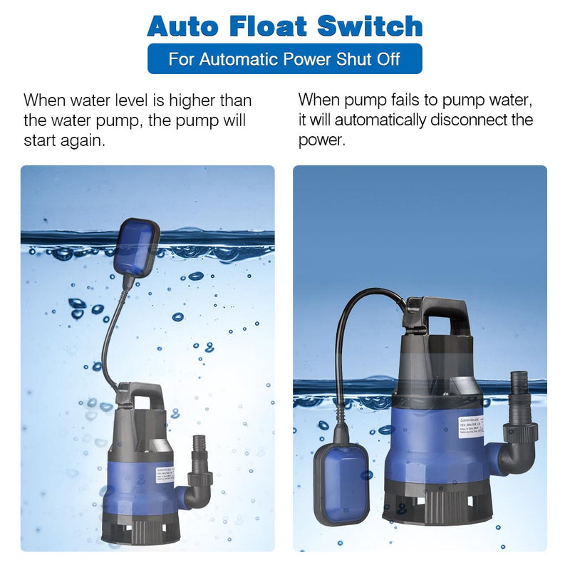 TheDIYOutlet 3/4HP Submersible Dirty Water Pump w/ Float 550w
