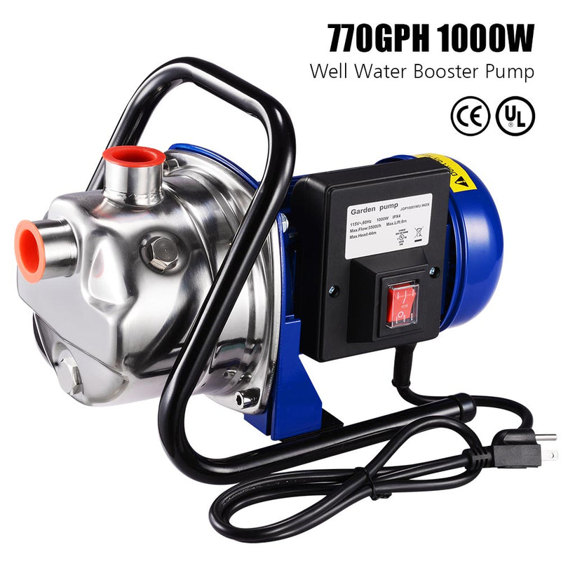 TheDIYOutlet 1.3HP Electric Water Pump Sump Pump Stainless Steel 770gph
