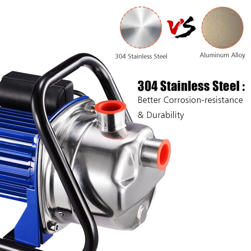 1.6HP Electric Water Pump Sump Pump Stainless Steel 814gph